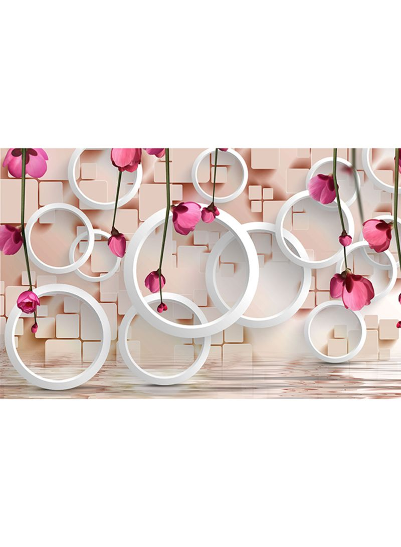 Shop ROSE HAND 3D Rings Wallpaper Multicolour 3 x 4 meter online in