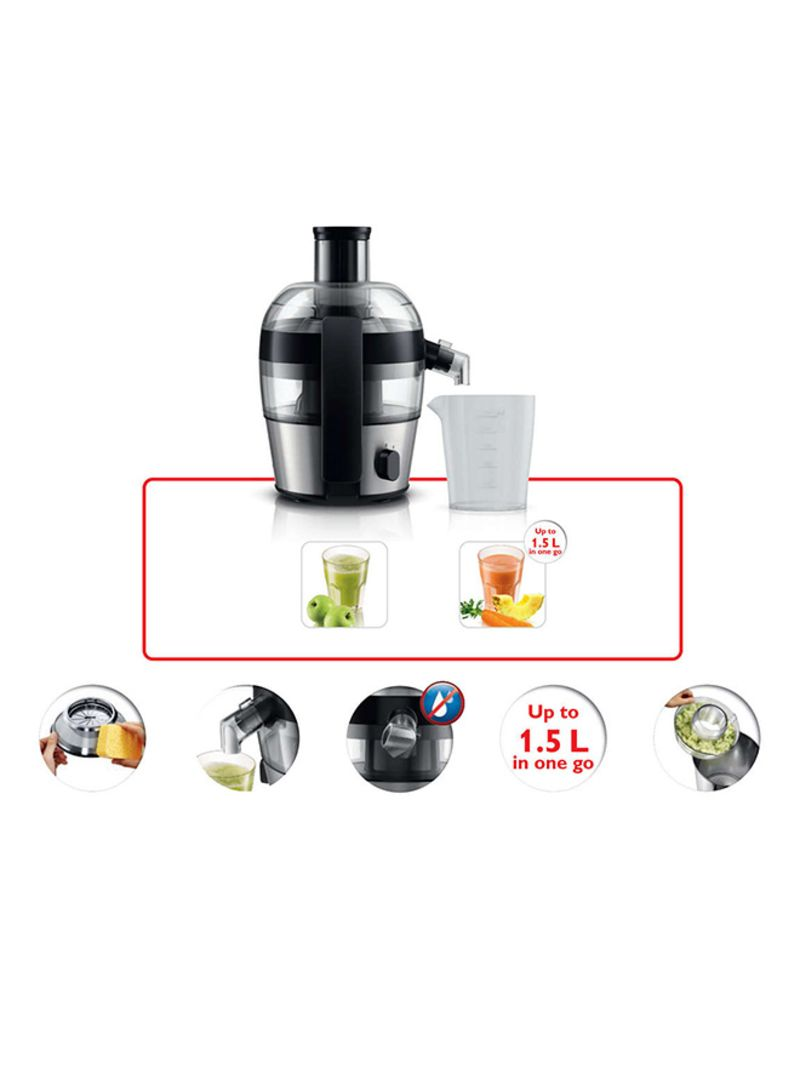 Shop Philips Juicer 500W HR1836 GreyClearBlack online in Dubai, Abu Dhabi and all UAE