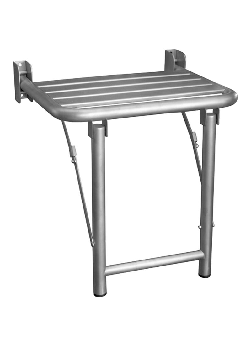 Nofer Stainless Steel Foldable Shower Seat Silver