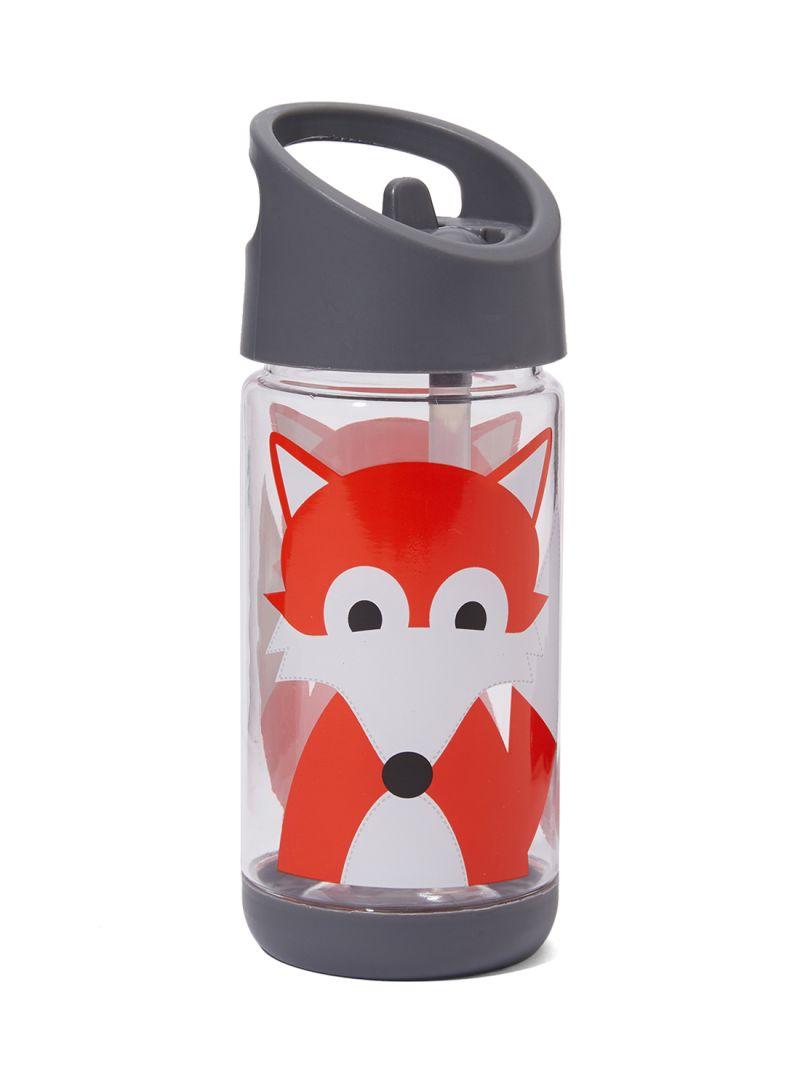 waar te kopen breed bereik bespaar tot 80% Shop 3 sprouts Fox Water Bottle Grey/Clear/Orange 12 ounce ...