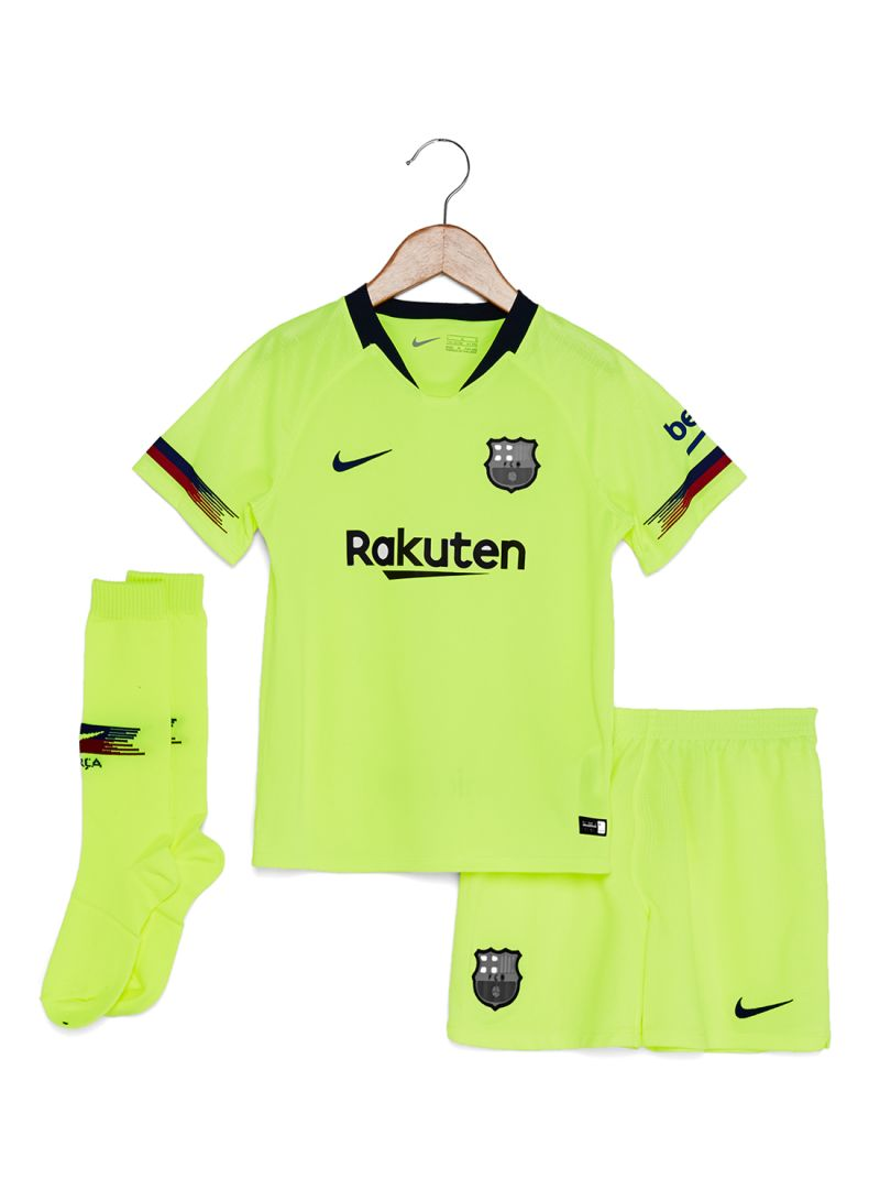 f0b2cc071 Shop Nike FC Barcelona Jersey Set Volt Deep Royal Blue online in ...