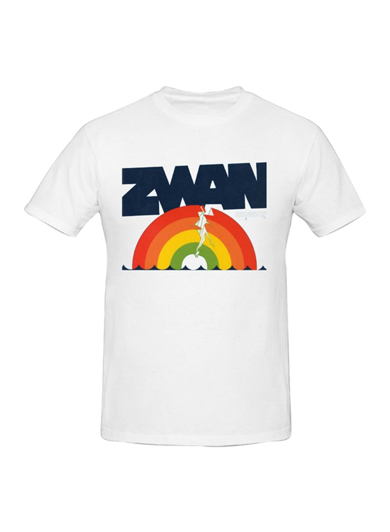 d8733596eb38 Shop Generic Zwan Honestly Printed Cotton Short Sleeve T-Shirt White ...