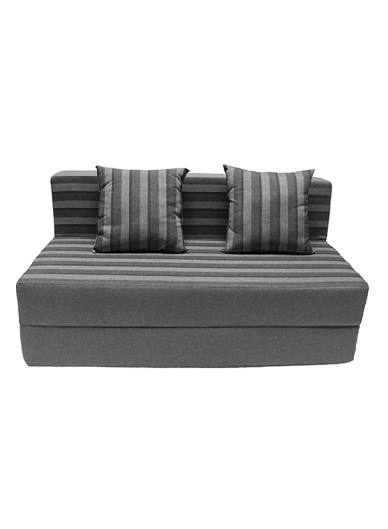 Sofa Bed With Two Pillows Grey