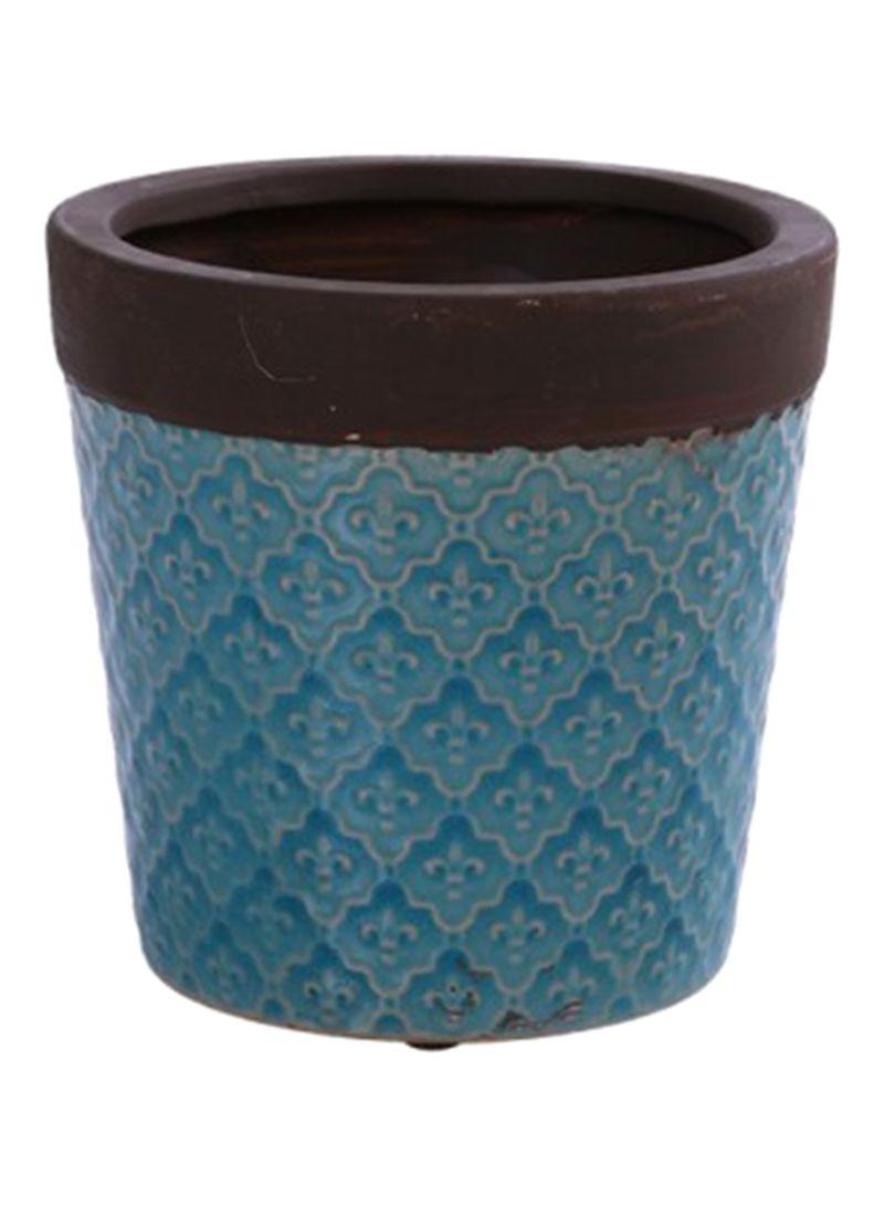 Pan Emirates Fl Ceramic Pot Blue