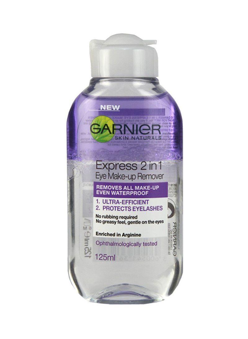 Shop Garnier Express 2 In 1 Eye Makeup Remover Clear Online In