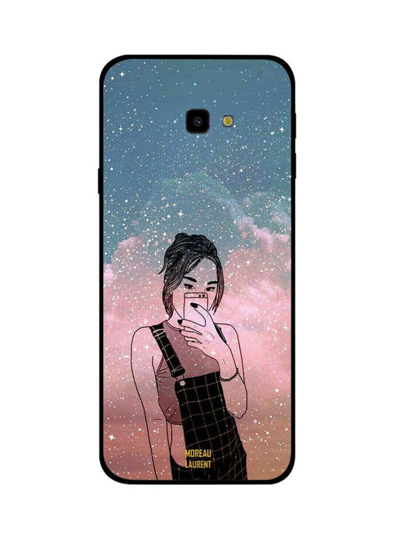 huge discount 8dec6 8404d Shop Moreau Laurent Protective Case Cover For Samsung Galaxy J4 Plus Doodle  Girl Making Selfie online in Dubai, Abu Dhabi and all UAE