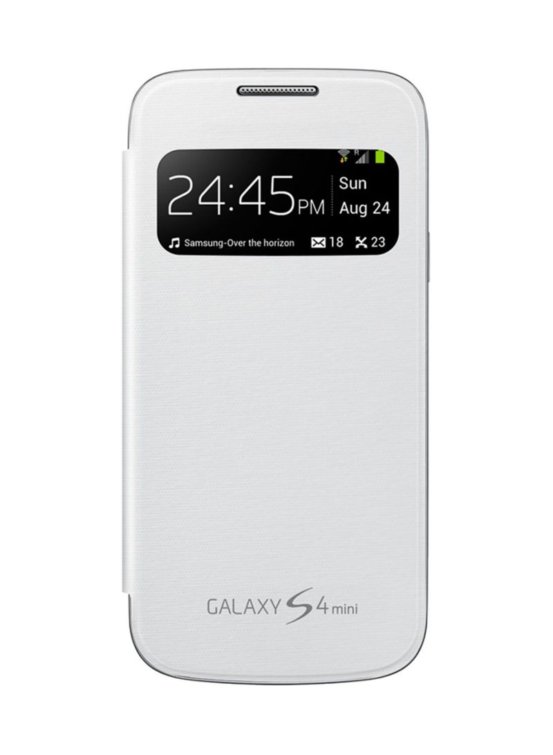 online store baa6c 53290 Shop Samsung S-View Flip Cover For Samsung Galaxy S4 Mini White ...