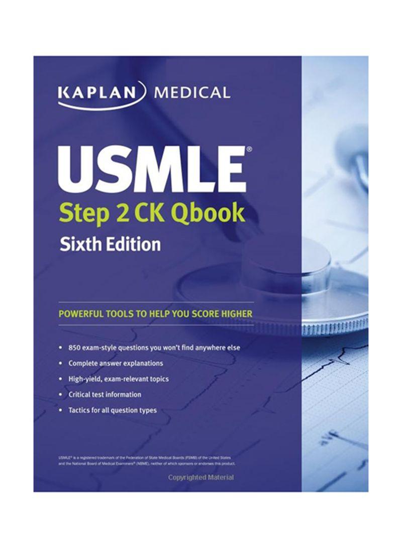 Shop USMLE Step 2 Ck Qbook Paperback 6 online in Riyadh, Jeddah and all KSA
