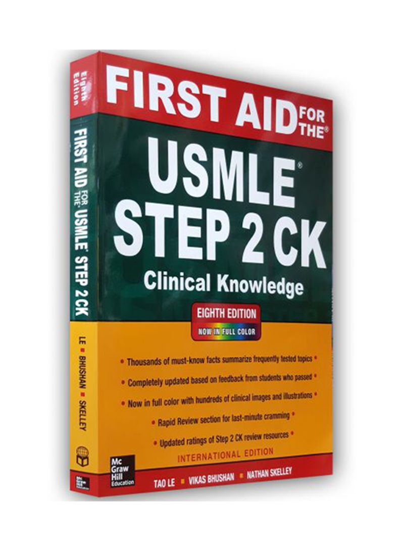 Shop First Aid For The USMLE Step 2 CK Paperback 8 online in Riyadh, Jeddah  and all KSA