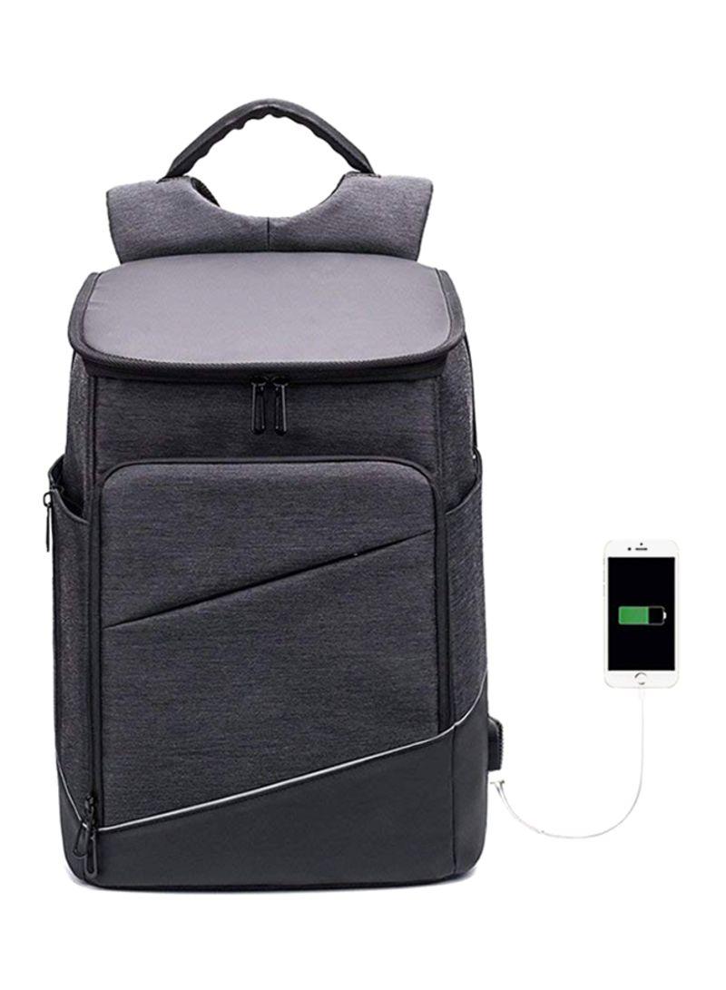 894d15516ff2 Shop BAIBU Anti Theft Laptop Backpack With USB Charging Port Grey ...