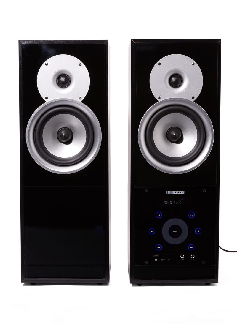 Shop ZEC Karaoke Multimedia Speaker System ZMS-500K Black/Grey/White online  in Dubai, Abu Dhabi and all UAE