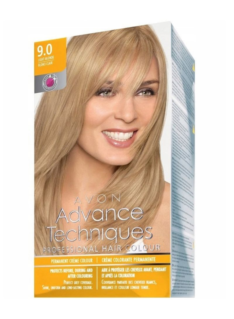 Buy Now - AVON Advance Techniques Professional Hair Colour Light Blonde 9.0  with Fast Delivery and Easy Returns in Dubai, Abu Dhabi and all UAE