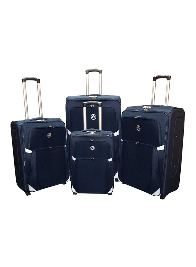 d6103cc7a0970 Shop HIGHFLYER Set Of 4 Luggage Trolley Bag online in Dubai