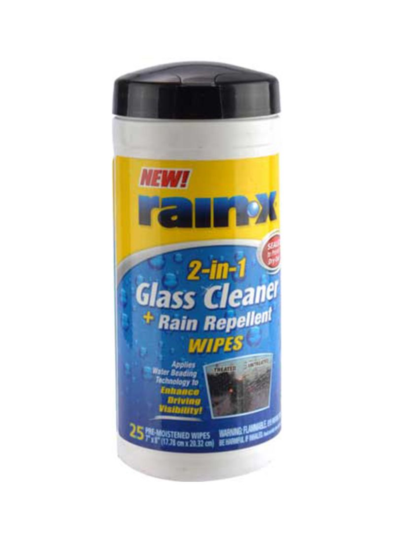 Shop Rain-X 2-In-1 Glass Cleaner And Rain Repellent Wipes