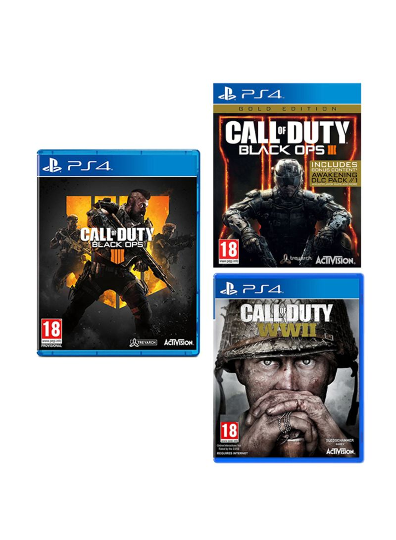 Call Of Duty Bundle Black Ops 4 Wwii Black Ops 3 Gold