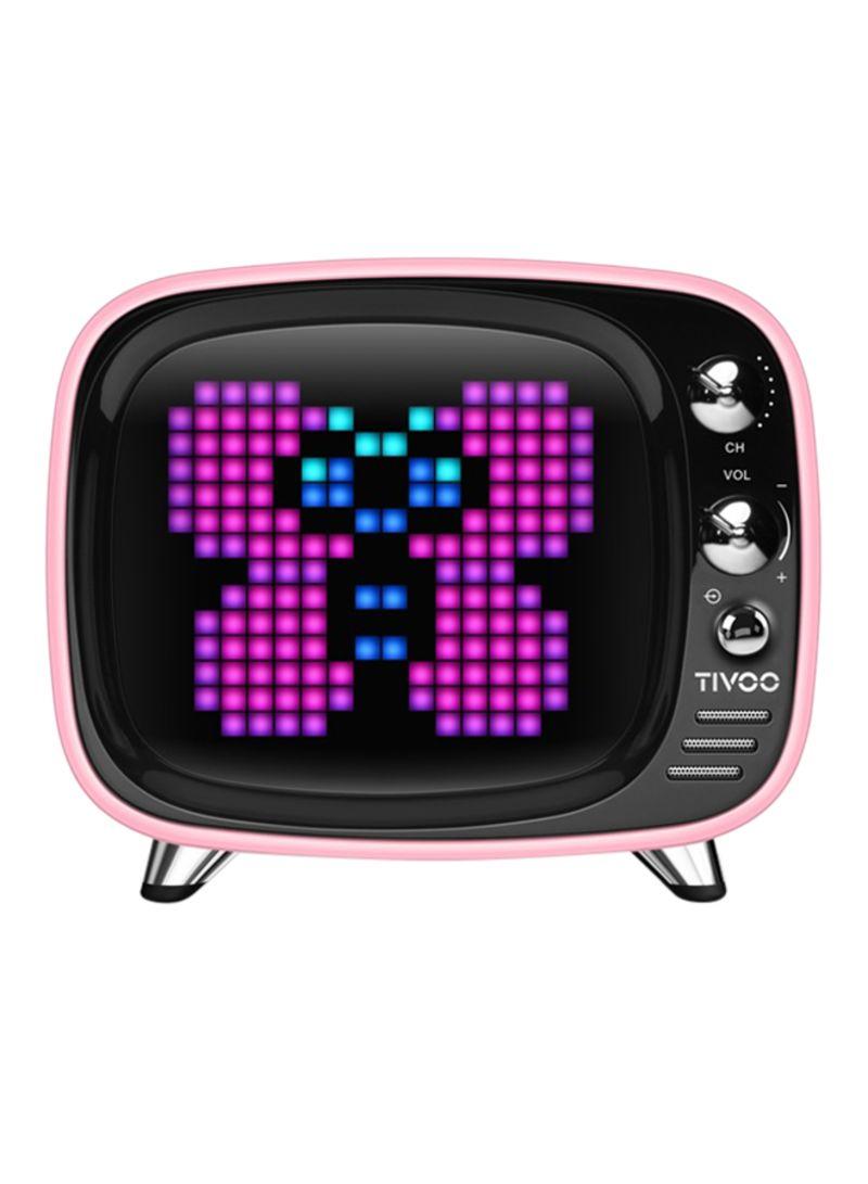 Tivoo LED Bluetooth Speaker وردي/أسود 10 مللي أمبير / ساعة