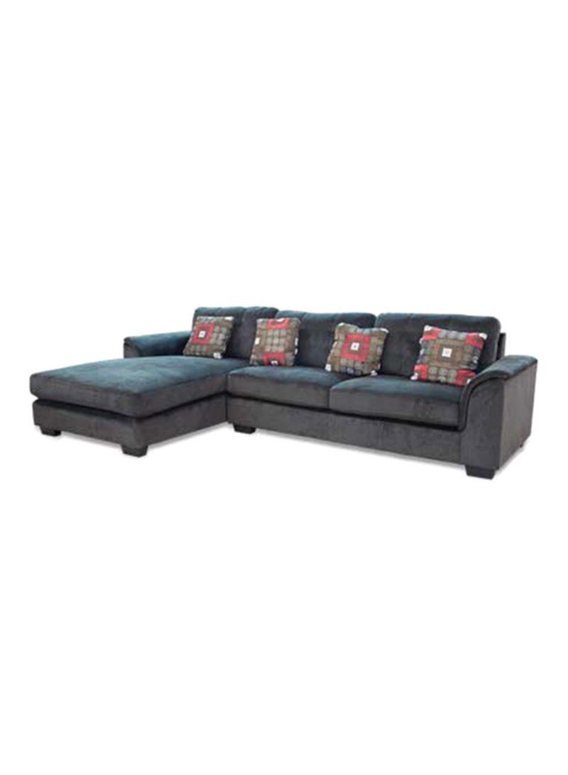 Shop Micasa L Shape Sofa Set With 2 Pillow Grey Online In Riyadh