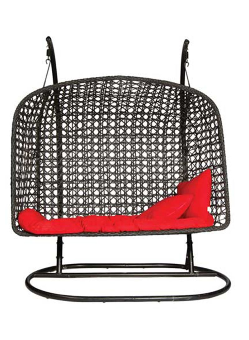 Shop 2 Seater Hanging Swing Chair Black Red Online In Dubai Abu Dhabi And All Uae