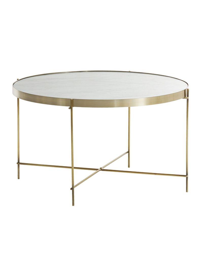 Shop Jysk Ommestrup Coffee Table Marble Gold Online In Dubai Abu