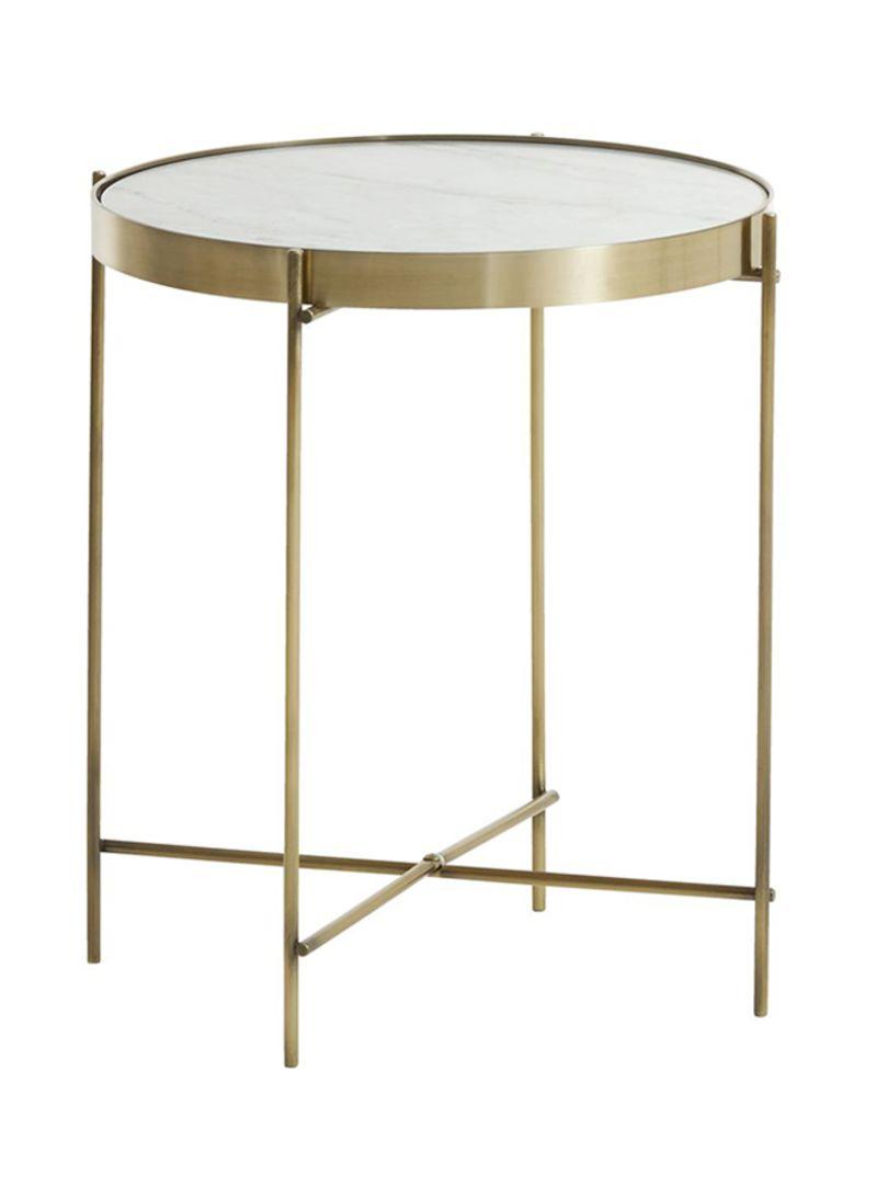 Side Table Jysk.Shop Jysk Ommestrup End Table Marble Gold Online In Dubai Abu Dhabi