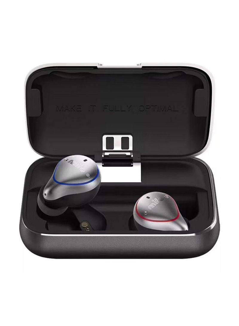 Bluetooth 5.0 Wireless Binaural Waterproof Earphones With Charging Box Universal Earbuds Grey