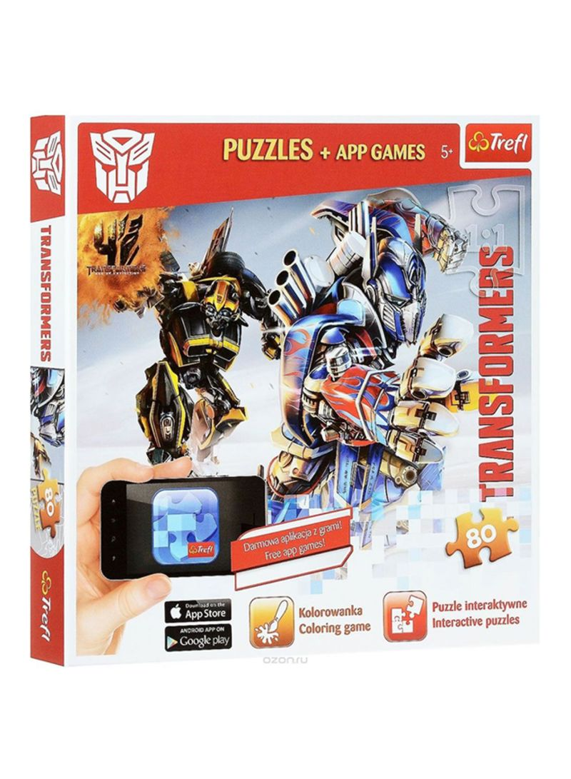 Shop Trefl Transformers Jigsaw Puzzle With App Games 75102 Online In