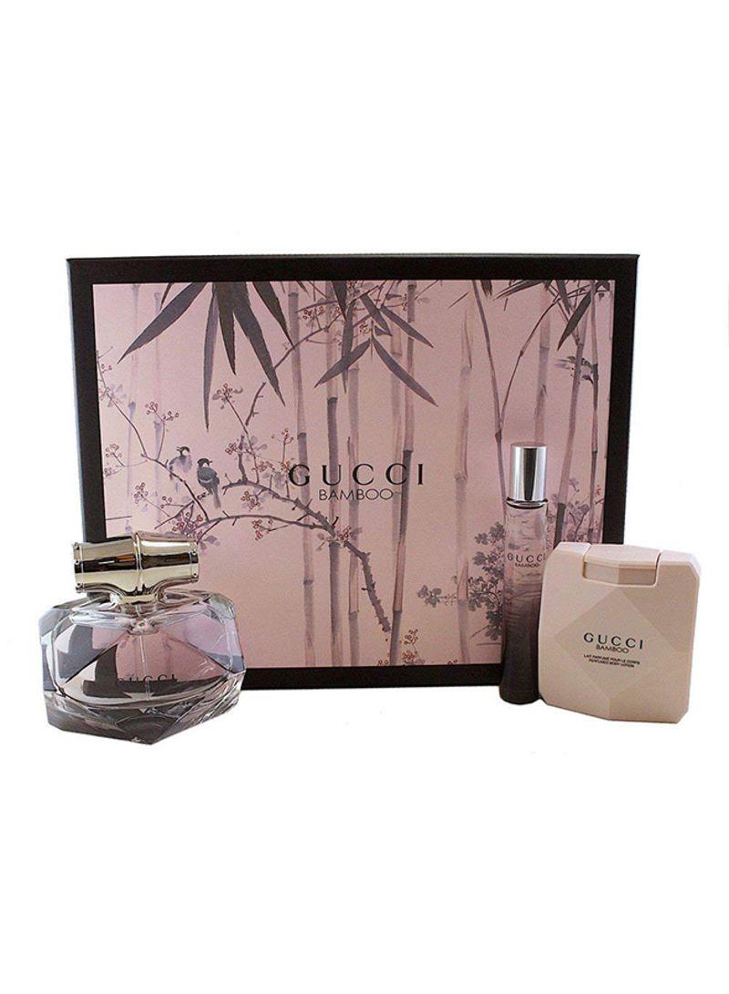 Shop Gucci 3 Peice Bamboo Gift Set Eau De Parfum Spray 75 Ml Body