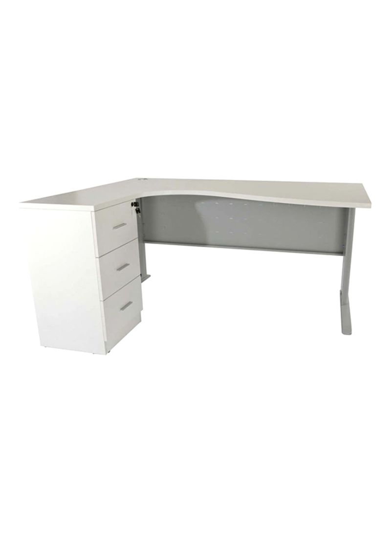 Super Shop Mahmayi Office Workstation Desk White 160X120X75 Interior Design Ideas Apansoteloinfo