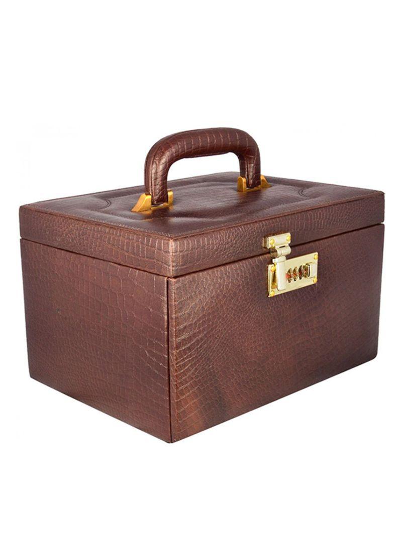 bb40578a3 Shop Laveri 3-Tray Leather Jewelry Box online in Dubai, Abu Dhabi ...