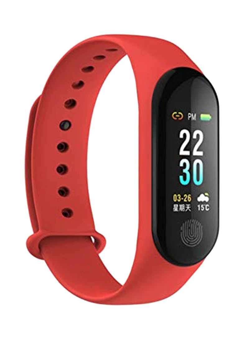 Shop Generic Fitness Tracker Band Red/Black online in Riyadh, Jeddah and  all KSA