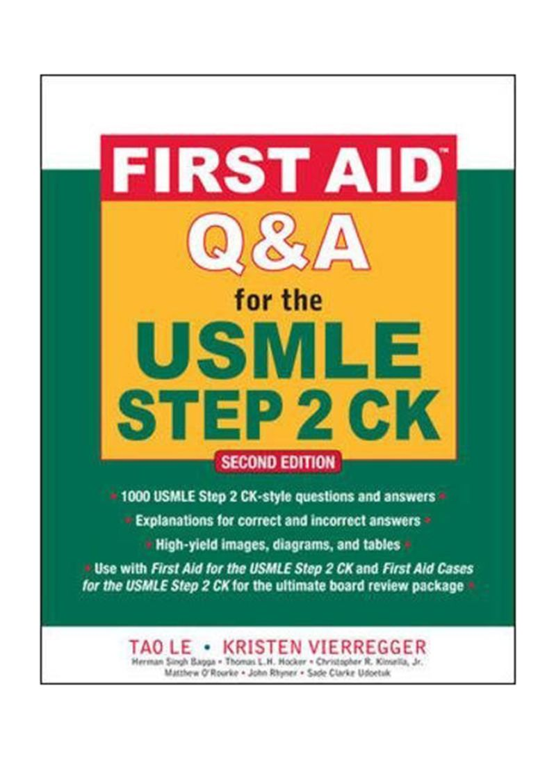 Shop First Aid Q And A For The USMLE Step 2 CK Paperback 2 online in Dubai,  Abu Dhabi and all UAE