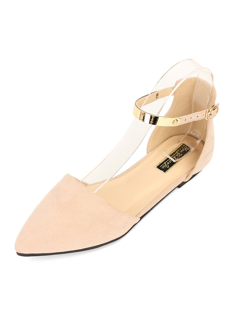 9ec7aaefe1 Shop Generic Pointed Toe Ankle Strap Flat Pumps online in Dubai, Abu ...