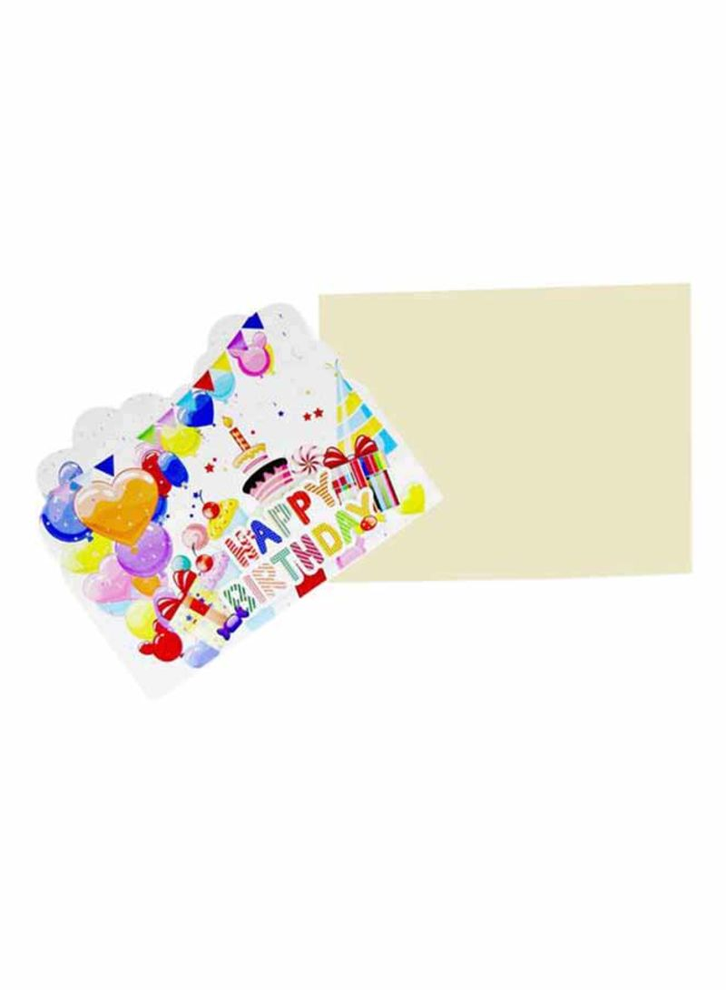 Shop Tamona 10 Piece Happy Birthday Theme Party Invitation