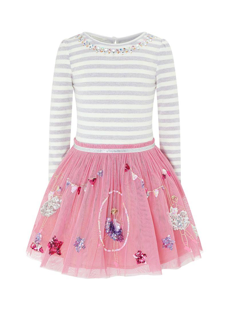 d6eb873dd5b6 Shop Monsoon Children Disco Acrobat Stone Embellished Dress Rose ...