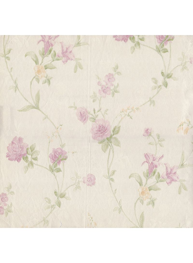 Buy Now Gaty Floral Printed Self Adhesive Wallpaper Off White Green Pink 10 05x0 53meter With Fast Delivery And Easy Returns In Dubai Abu Dhabi And All Uae