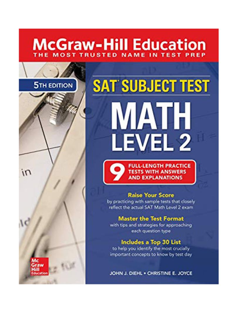 تسوق وSAT Subject Test Math Level 2: 9 Full Length Practice Test With  Answer And Explanation 5 Paperback أونلاين في الإمارات