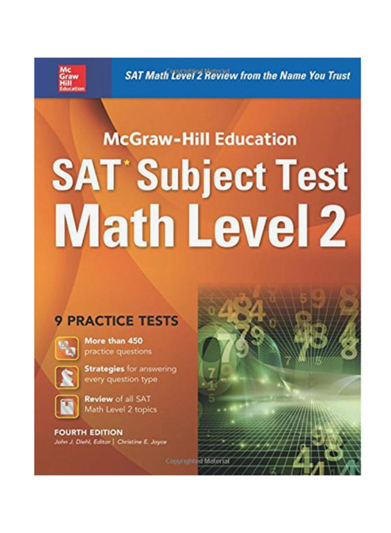Shop SAT Subject Test Math Level 2: 9 Practice Tests 4 Paperback online in  Dubai, Abu Dhabi and all UAE