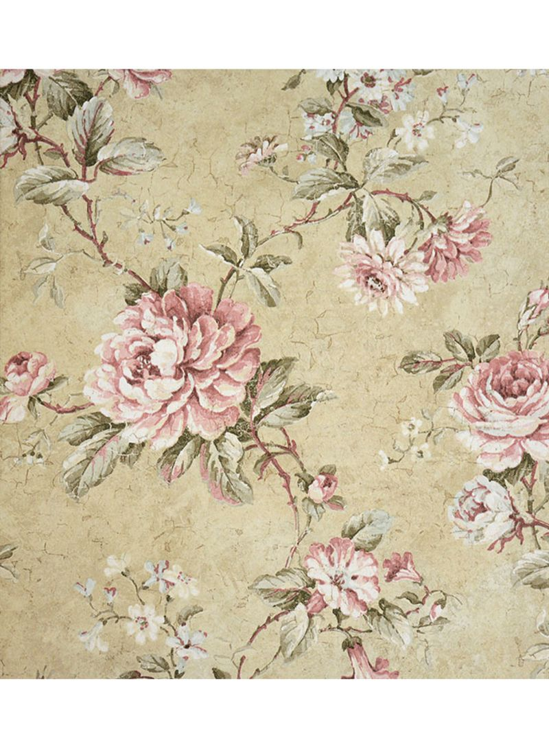 Shop Wallquest Vintage Style Floral Printed Wallpaper Beige Pink