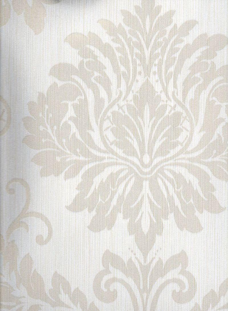 Shop Wallquest Vintage Style Damask Printed Wallpaper Grey Beige 10x0 53 Meter Online In Dubai Abu Dhabi And All Uae