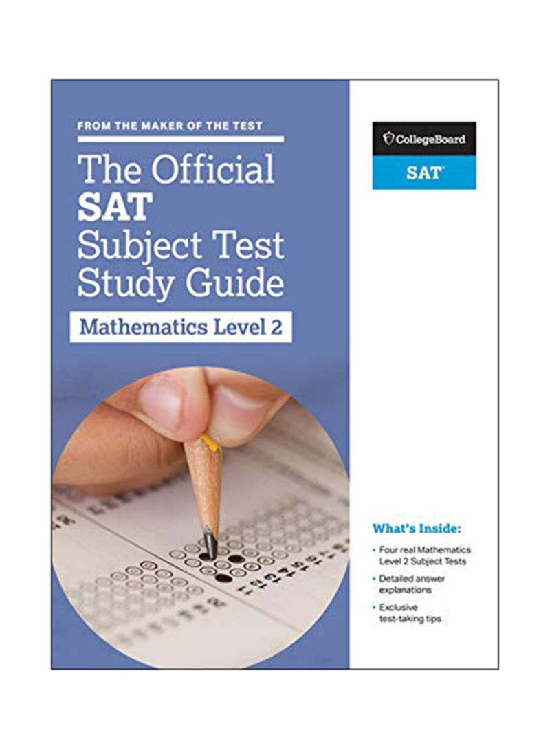 The Official SAT Subject Test Study Guide - Mathematics Level 2 Paperback