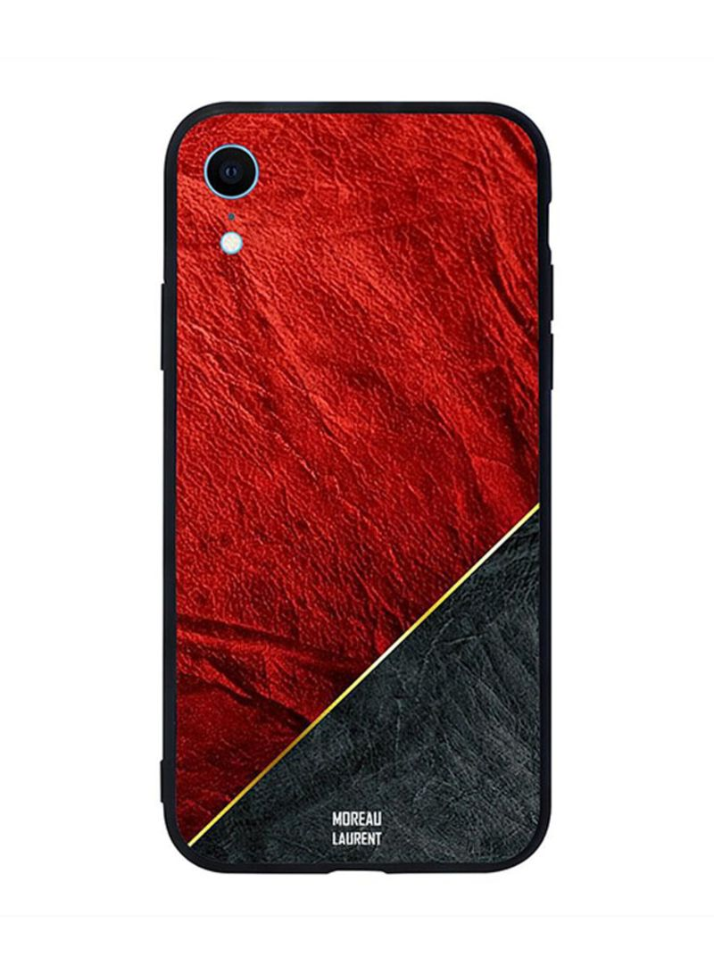 brand new 16d4b 5b9fc Shop Moreau Laurent Protective Case Cover for Apple iPhone XR Red & Black  Leather Pattern online in Dubai, Abu Dhabi and all UAE