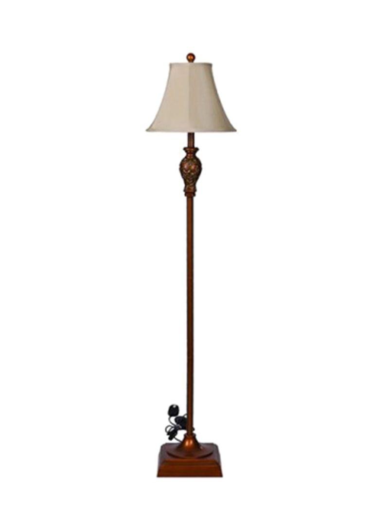 Shop Pan Emirates Rowan Resin Floor Lamp Gold White 33x152x33centimeter Online In Dubai Abu Dhabi And All Uae