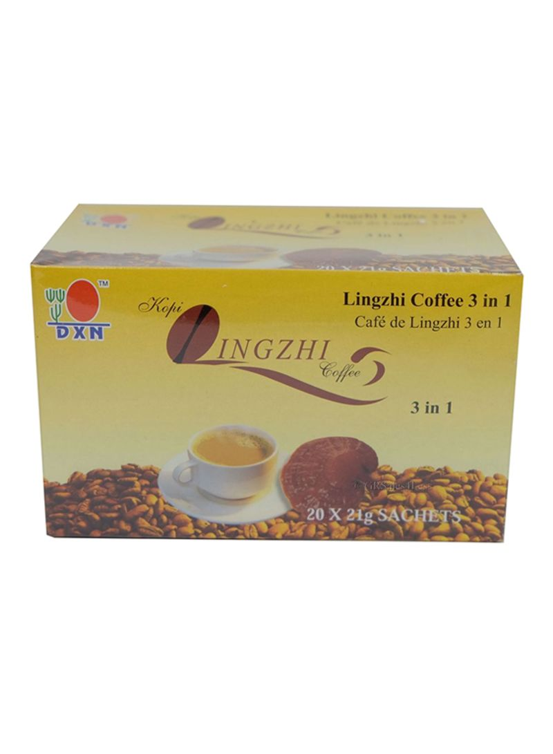 Shop DXN Pack of 20 3-In-1 Coffee With Ganoderma Extract And Creamer ... 0f7ad04181