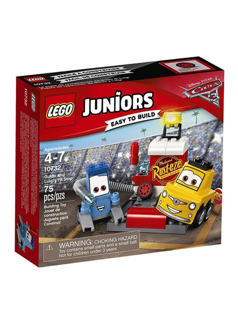 super popular f2409 02b5a Shop LEGO Juniors Disney Cars Guido and Luigi's Pit Stop ...