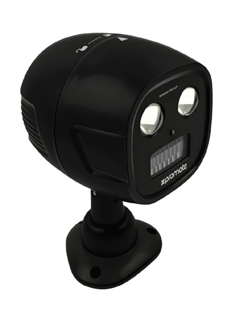 Image of: Shop Promate Motion Sensor Light Outdoor Wireless Battery Powered Led Ultra Bright Spotlight With Ip65 Water Resistant 100 Lumens And Wall Mount Kit For Back Yard Garden Driveway Motiontorch Black 15 5x12x15 5centimeter Online In Riyadh