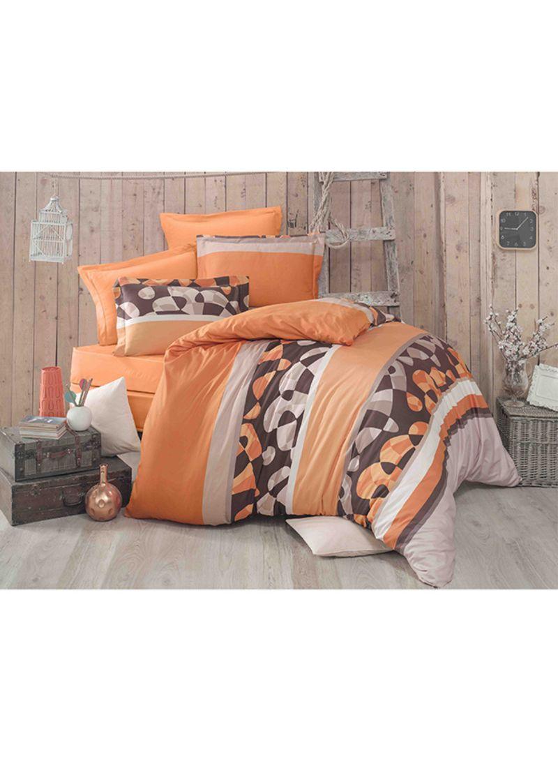 8 Piece Comforter Set Cotton Orange Brown White Price In Saudi Arabia Noon Saudi Arabia Kanbkam