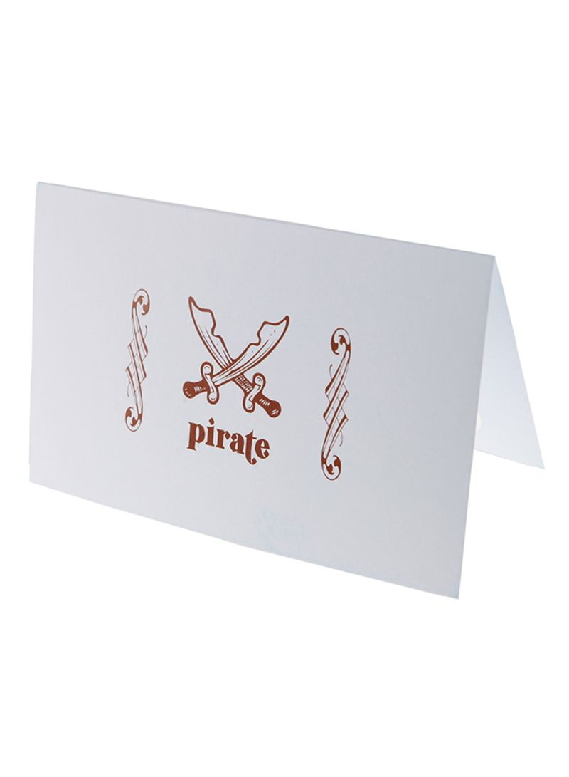 Shop Papillon Balloon 6 Piece Pirate Birthday Invitation