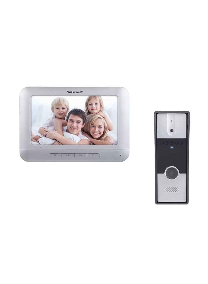 Shop HIKVISION Video Door Phone Set Silver 7 7 × 5 2 ×0 7 inch