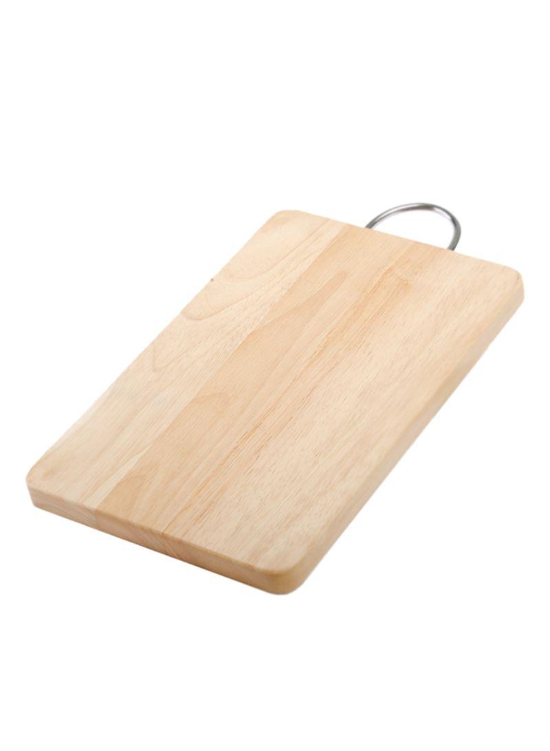 Shop Billi Wooden Cutting Board With Handle Beigesilver 255x38x2 Centimeter Online In Dubai Abu Dhabi And All Uae