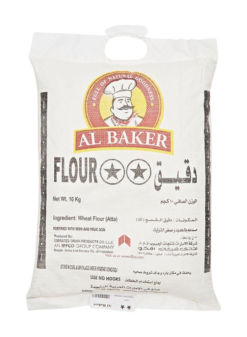 Shop Al Baker Al Baker Two Star Flour 10 kg online in Dubai, Abu Dhabi and  all UAE